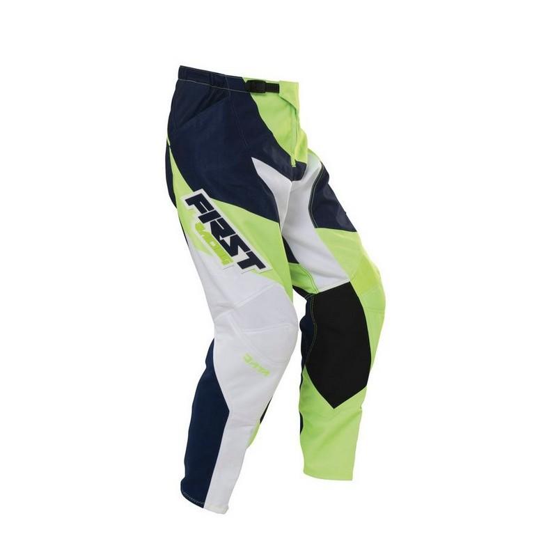 Pantalon taille 38US MARINE/VERT FLUO/BLANC FirstRacing Data - DreamAccess